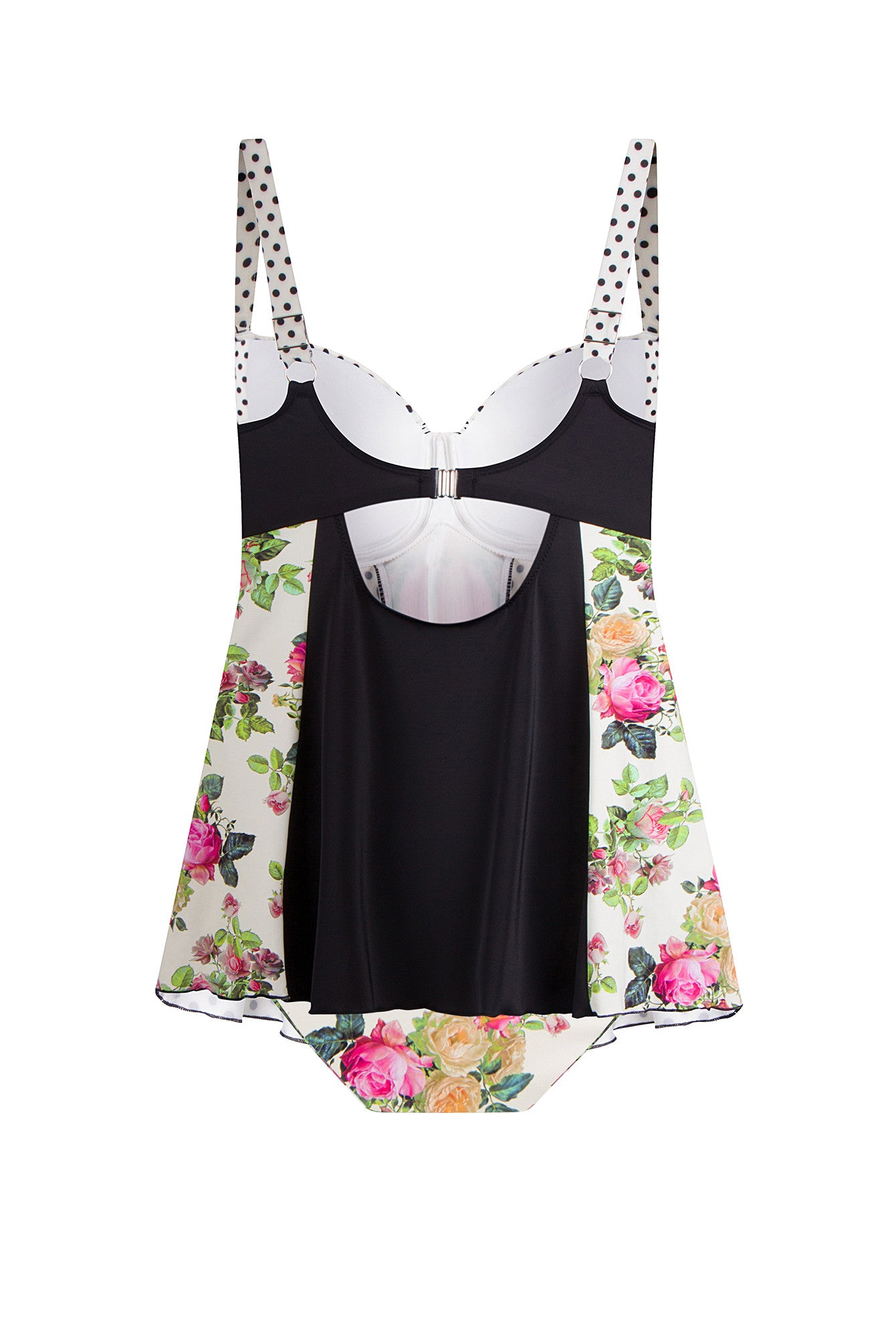 Floral Plus Size Tankini Top Swimdress Beautiful Flower design