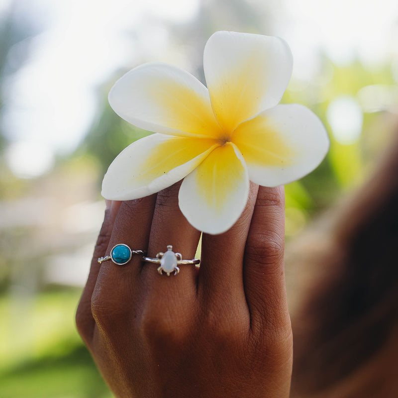 HANALEI Sterling Silver Turquoise Ring (3934374559841)