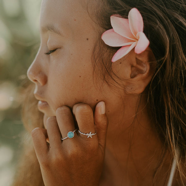 KAHAKAI Sterling Silver Tiny Starfish Ring (3934367088737)