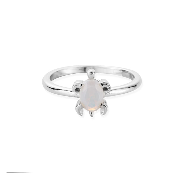 DREAMER Opal Sea Turtle Ring in White Gold
