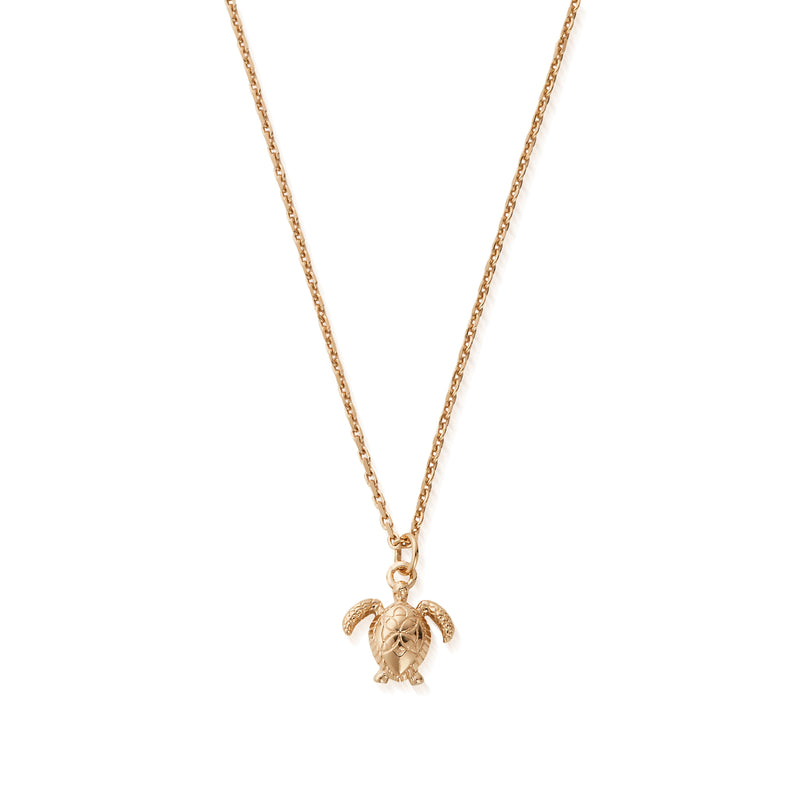Sterling Silver honu Sea Turtle Necklace with 18ct Gold Plating