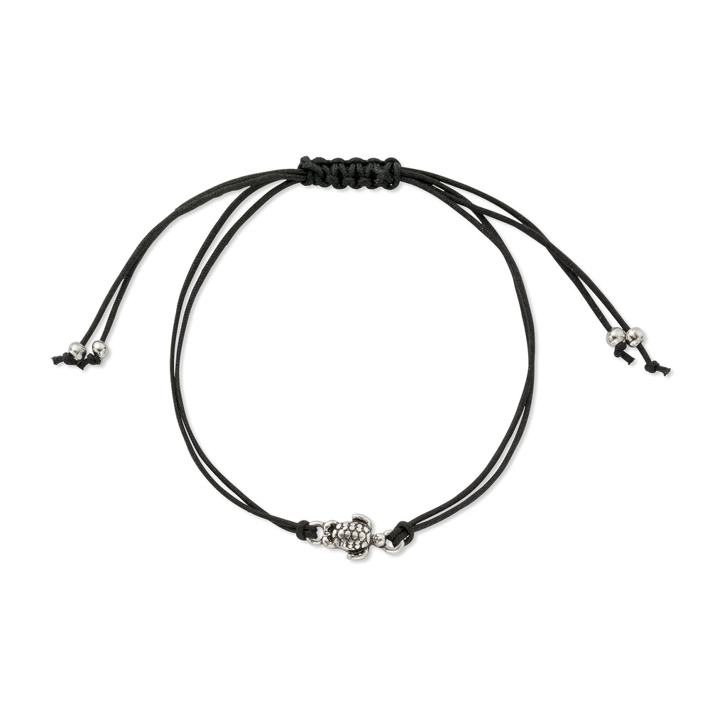 Sea Turtle Charm Friendship Bracelet in Black