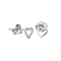 DREAMER Tiny Cut Out Heart Studs