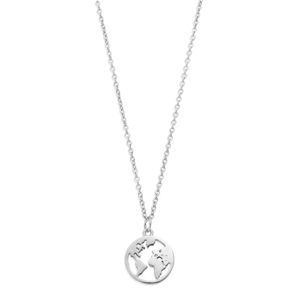 Sterling Silver Earth Necklace (757533016161)