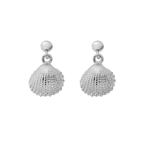 Sterling Silver Tiny Shell Earrings