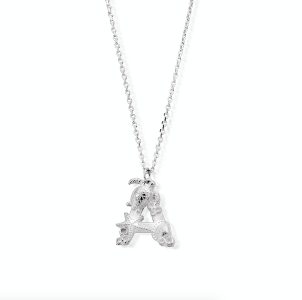 "Under the Sea Initial ""A"" Necklace"