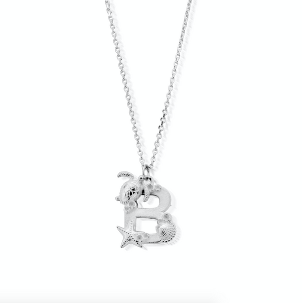 "Under the Sea Initial ""B"" Necklace"