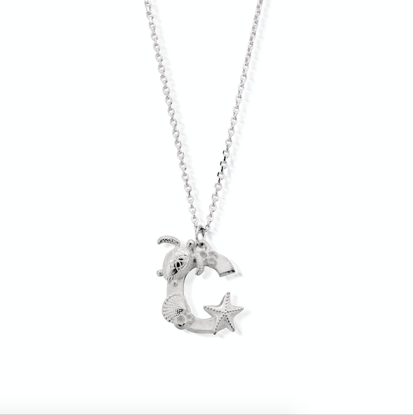 "Under the Sea Initial ""C"" Necklace"