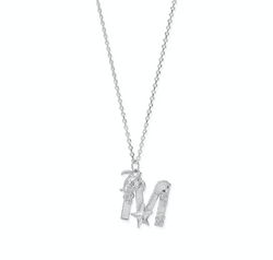"Under the Sea Initial ""M"" Necklace"
