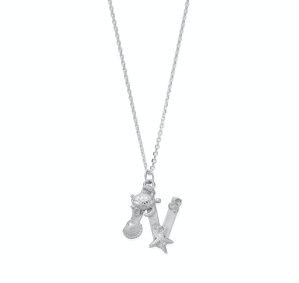 "Under the Sea Initial ""N"" Necklace"