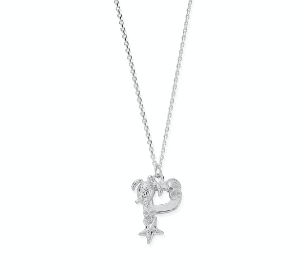 "Under the Sea Initial ""P"" Necklace"