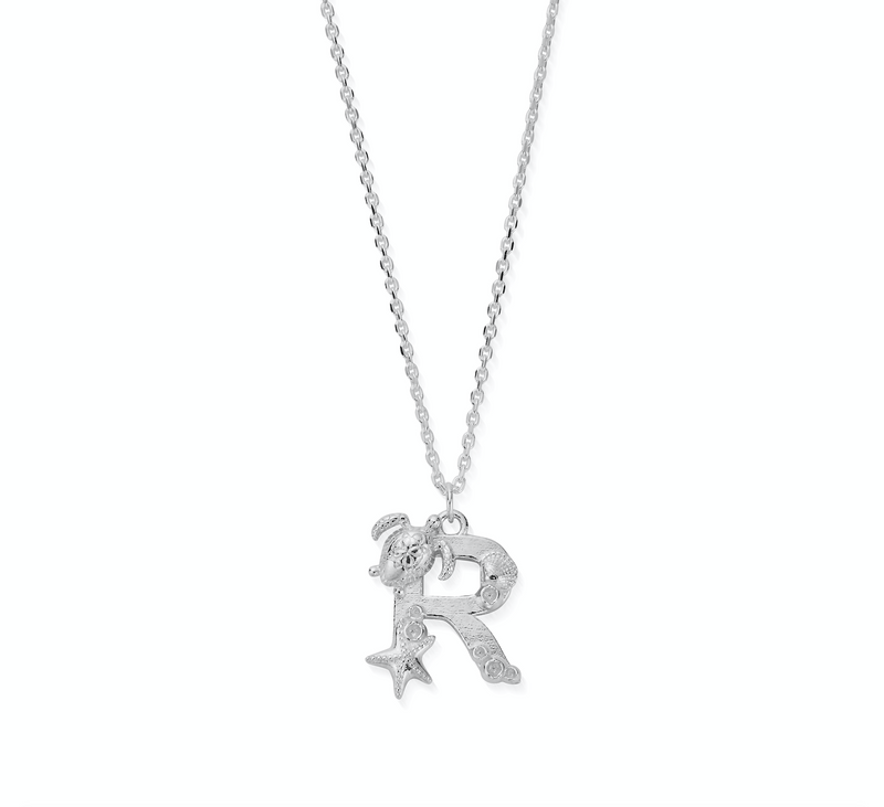 "Under the Sea Initial ""R"" Necklace"