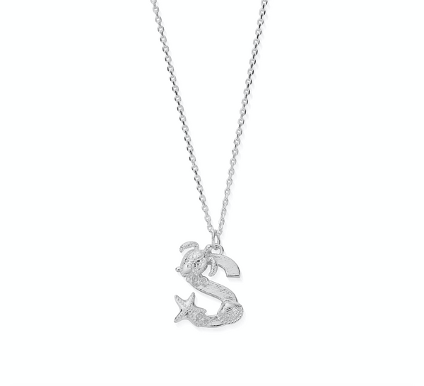 "Under the Sea Initial ""S"" Necklace"