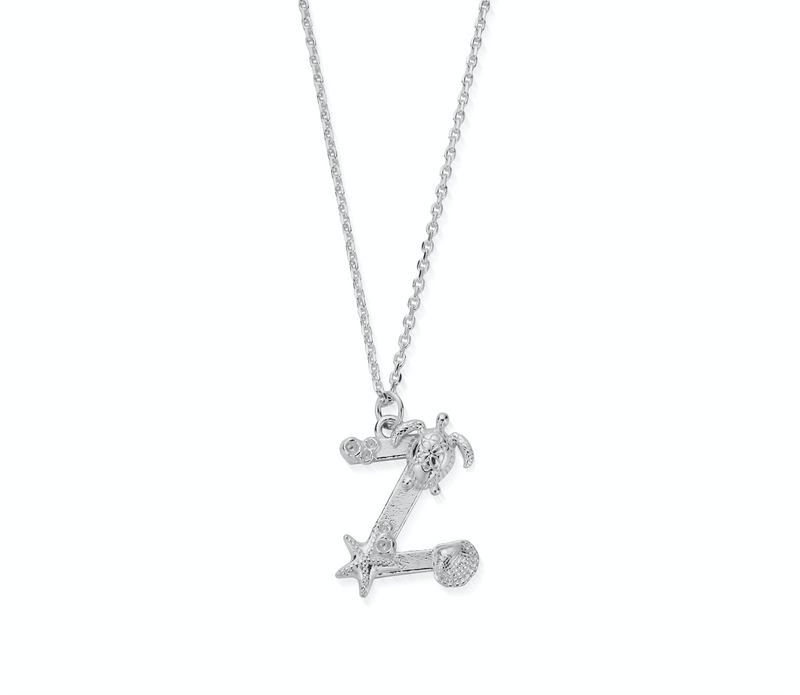"Under the Sea Initial ""Z"" Necklace"
