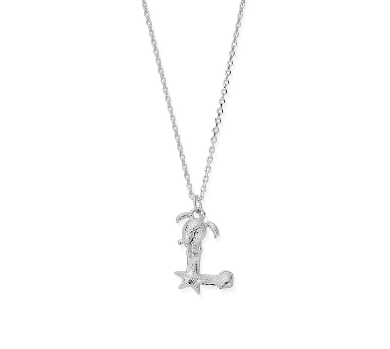 "Under the Sea Initial ""L"" Necklace"