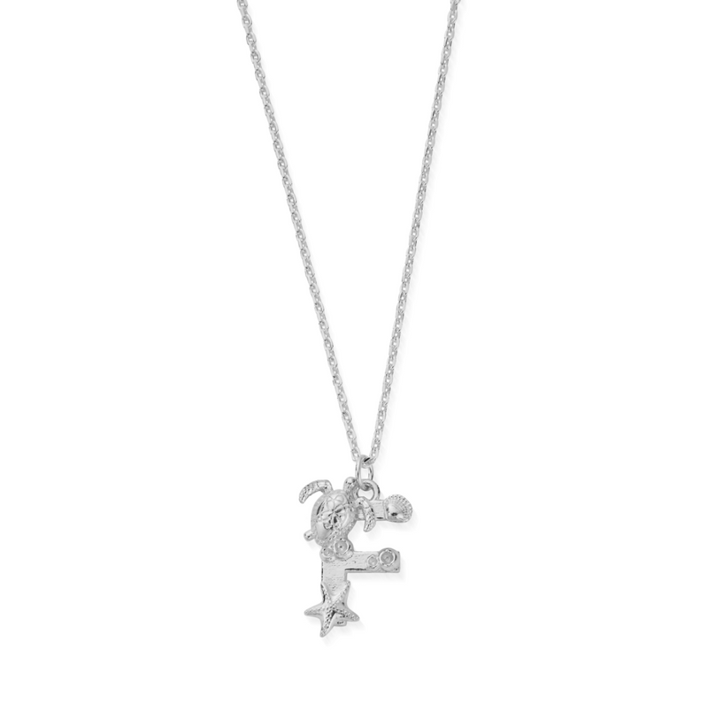 "Under the Sea Initial ""F"" Necklace (4835677929569)"