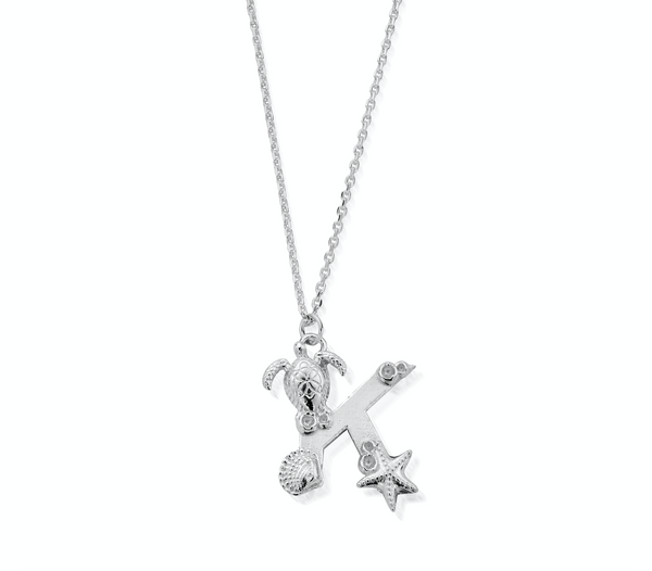 "Under the Sea Initial ""K"" Necklace"