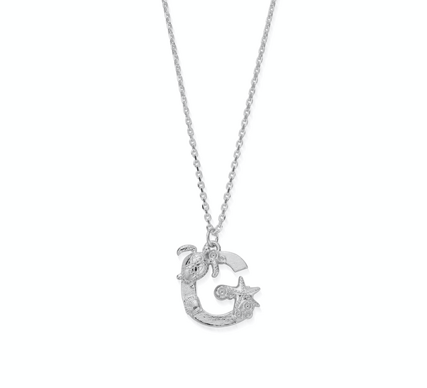 "Under the Sea Initial ""G"" Necklace"