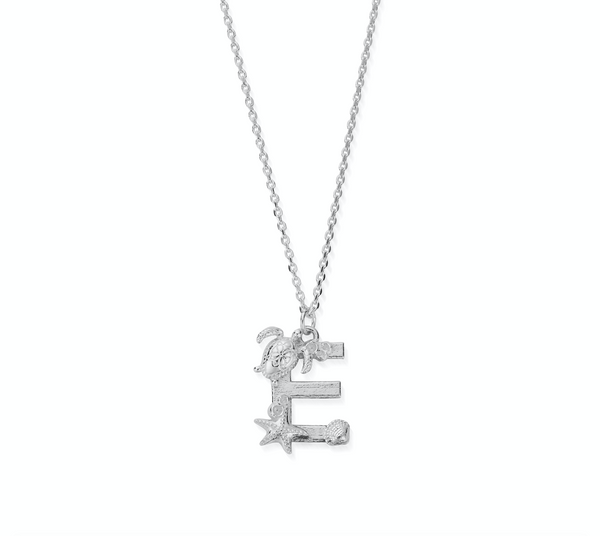 "Under the Sea Initial ""E"" Necklace"