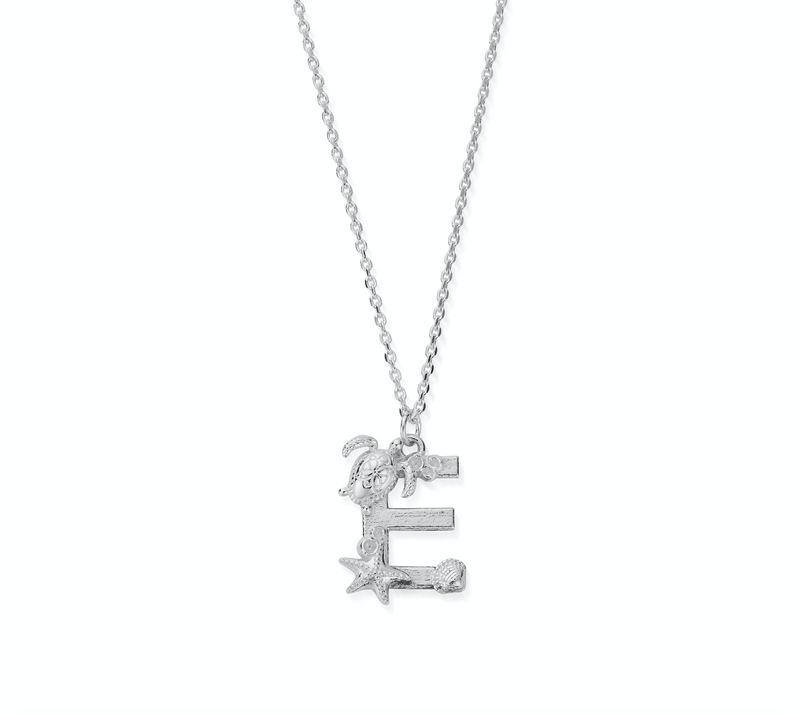 "Under the Sea Initial ""E"" Necklace (4835659710561)"