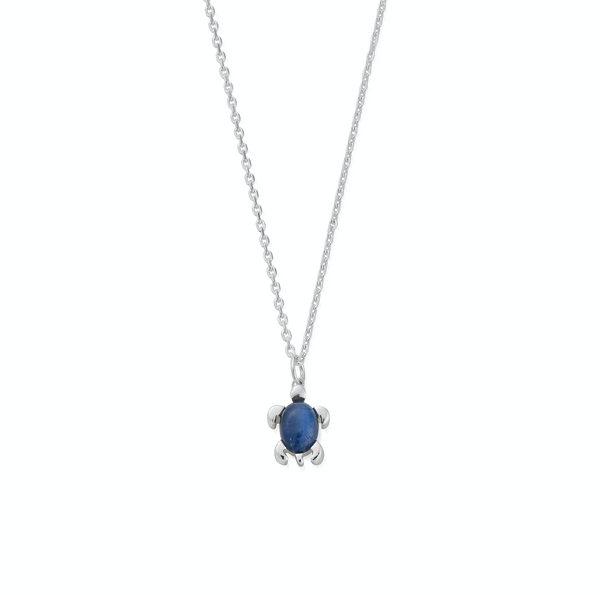 September Birthstone Sea Turtle Necklace - Semi-Precious Sapphire
