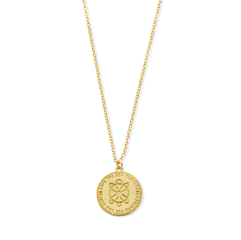 HANALEI Sterling Silver Coin Pendant with 18ct Gold Plating