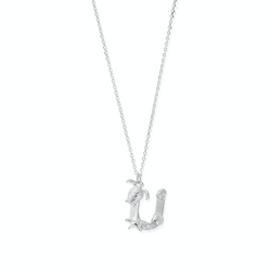 "Under the Sea Initial ""U"" Necklace"