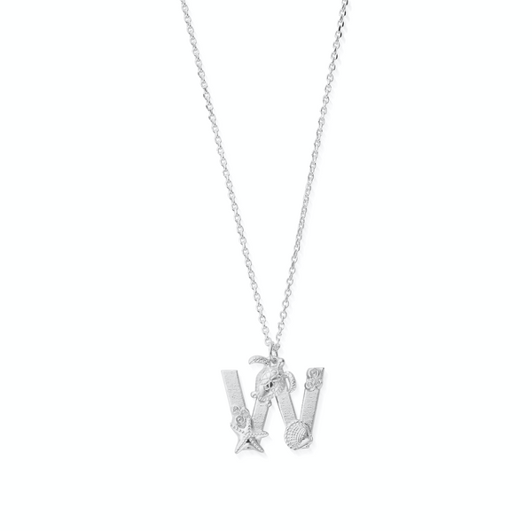 "Under the Sea Initial ""W"" Necklace (4880928964705)"