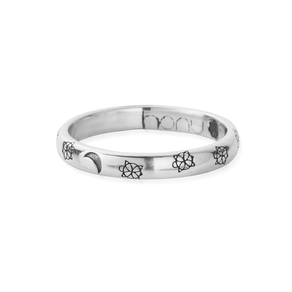 LUNAR Engraved Band Ring (6550253928545)