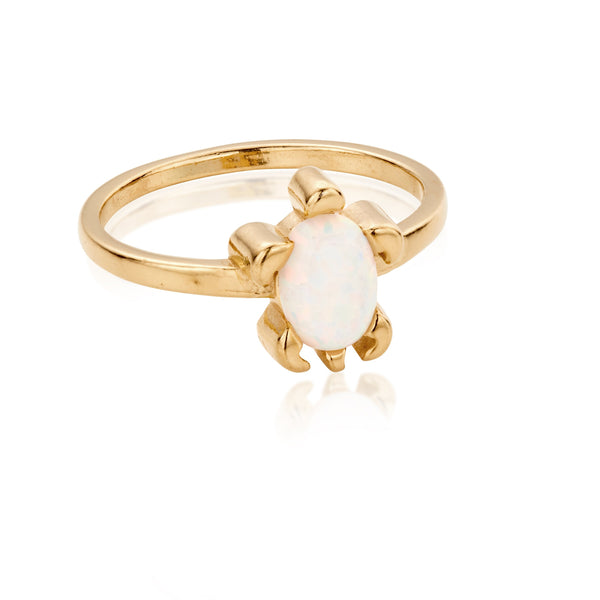 DREAMER Opal Sea Turtle Ring with 18ct Gold Plating
