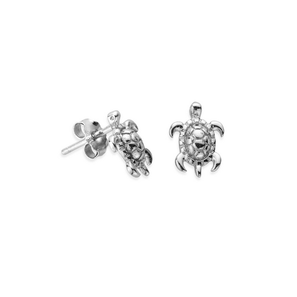 Sterling Silver Tiny Hatchling Sea Turtle Earrings (4526973288545)