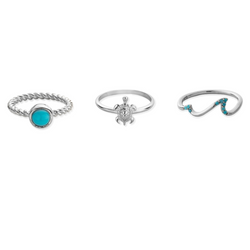 Turquoise Shores Ring Set