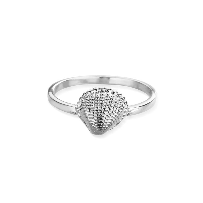 KAHAKAI Sterling Silver Tiny Shell Ring