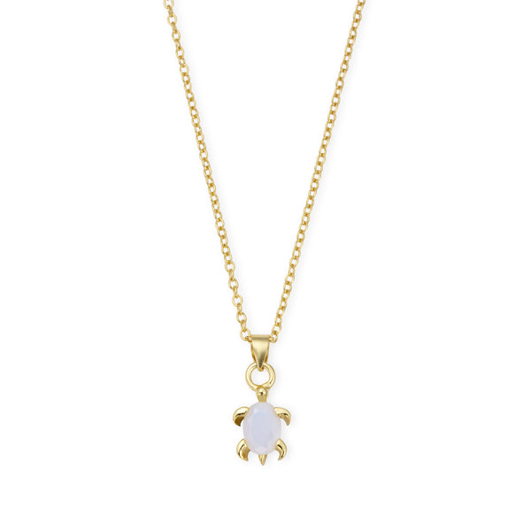 DREAMER Opal Sea Turtle Necklace in Gold