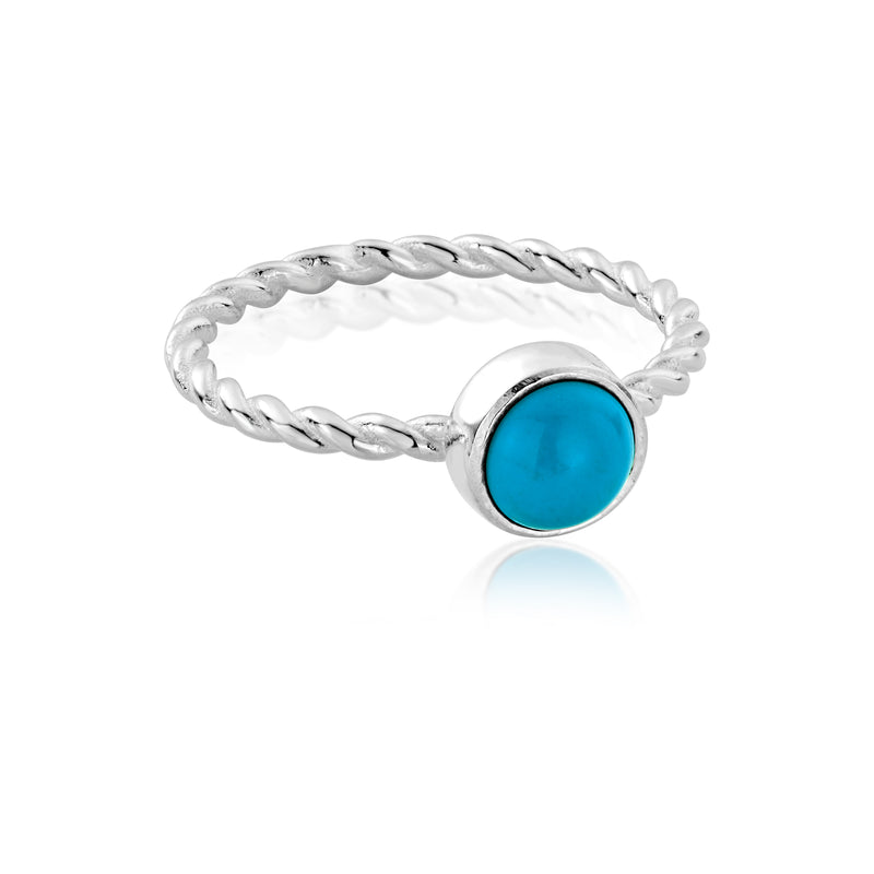 HANALEI Sterling Silver Turquoise Ring