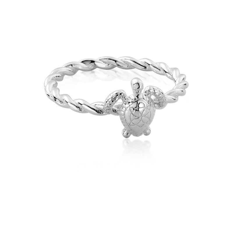 Sterling Silver honu Sea Turtle Ring
