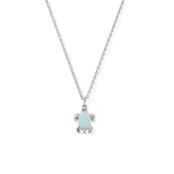 DREAMER Blue Opal Sea Turtle Necklace (4818024562785)