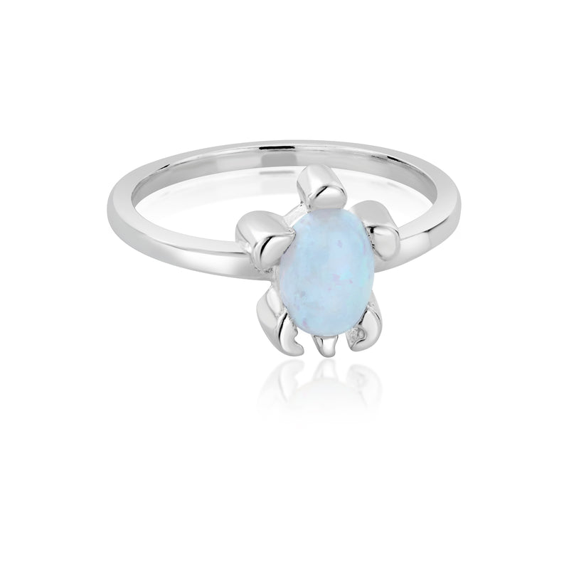 DREAMER Blue Opal Sea Turtle Ring