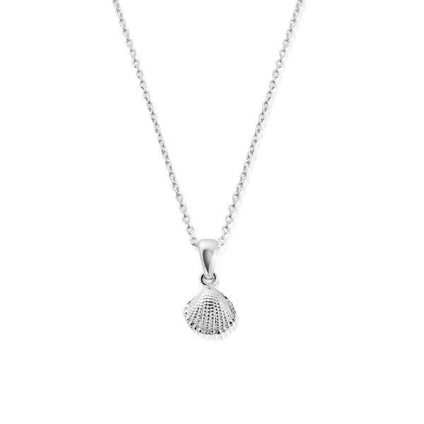 KAHAKAI Sterling Silver Tiny Silver Shell Pendant Necklace