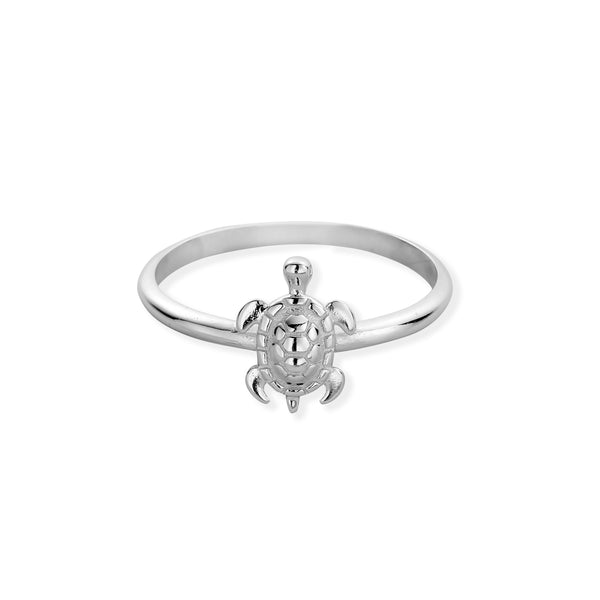 Sterling Silver Tiny Sea Turtle Ring