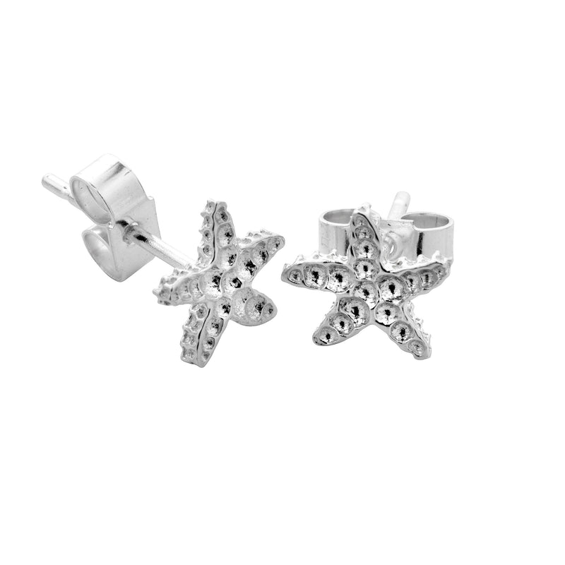 KAHAKAI Sterling Silver Starfish Earrings