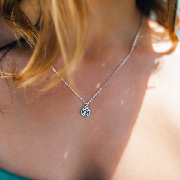 Honu Cut Out Sterling Silver Necklace