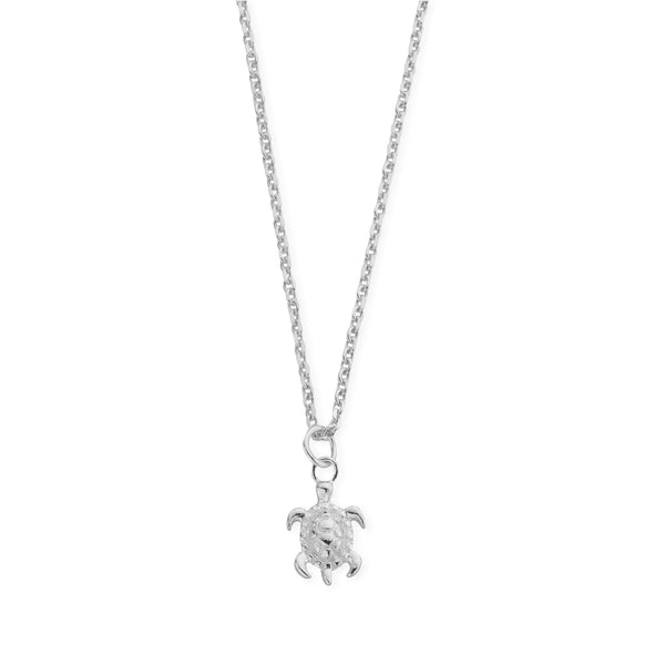 Sterling Silver Tiny Sea Turtle Necklace