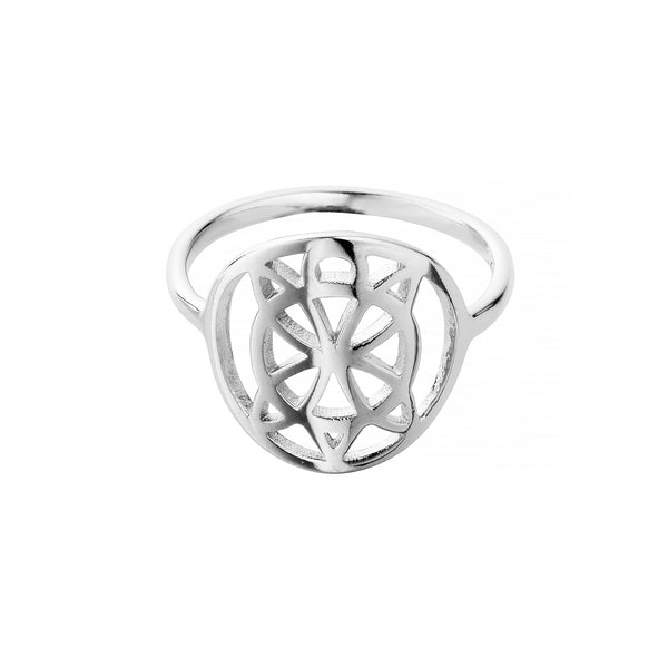 Sterling Silver Cut Out Honu Ring