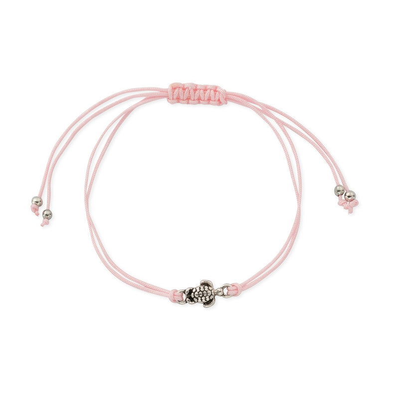 Sea Turtle Charm Friendship Bracelet in Harbour Island Pink