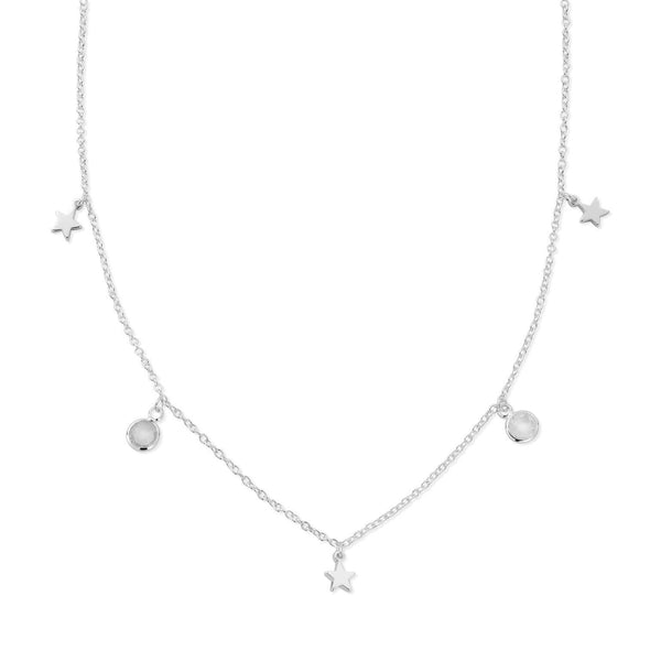 LUNAR Moonstone and Star Choker (757434351713)