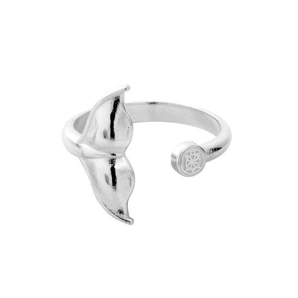 Hoaloha Whale Tail Ring - Adjustable