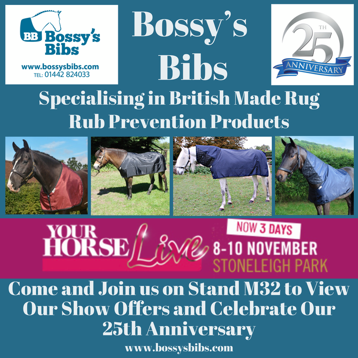 Bossy's Bibs Stand M32 at Your Horse Live 2019
