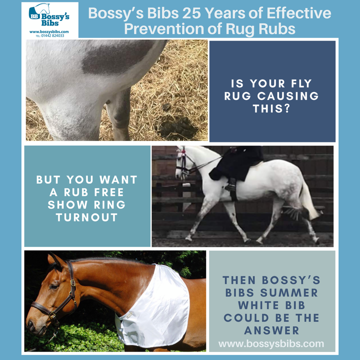 Bossy's Bibs Prevention and Cure from Rug Rubs