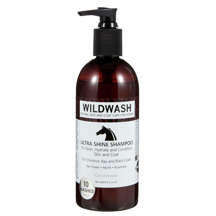 A Healthy Coat with Chemical Free and Cruelty Free WildWash Natural Horse Shampoo